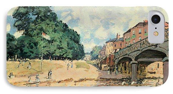 Bridge At Hampton Court IPhone Case by Alfred Sisley