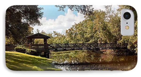 Bridge At Sawgrass Park IPhone Case by Ginny Schmidt