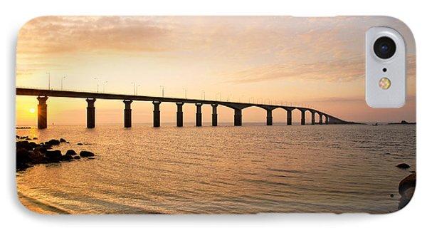 Bridge At Sunrise IPhone Case by Kennerth and Birgitta Kullman