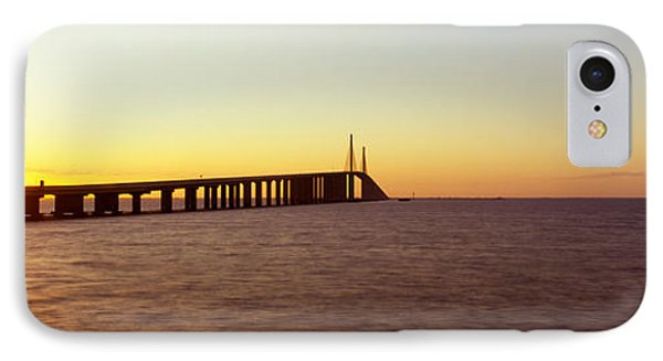 Bridge At Sunrise, Sunshine Skyway IPhone Case by Panoramic Images