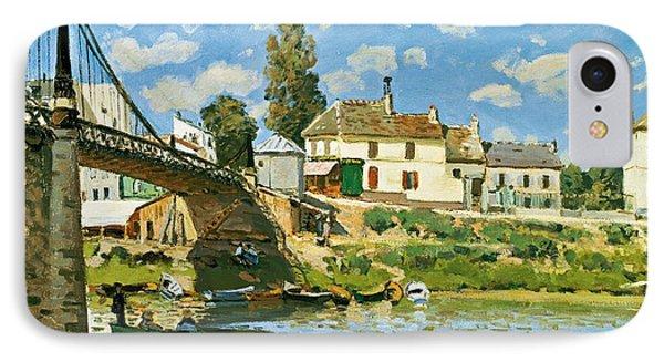 Bridge At Villeneuve-la-garenne IPhone Case by Alfred Sisley