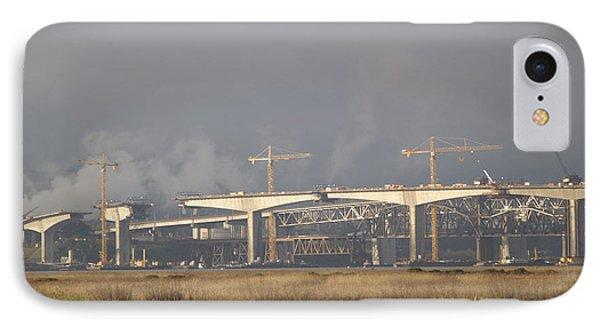 Bridge Building Phone Case by Bill Gallagher