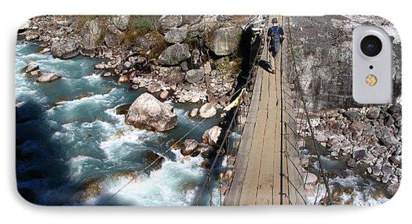 Bridge Crossing Phone Case by Tim Hester