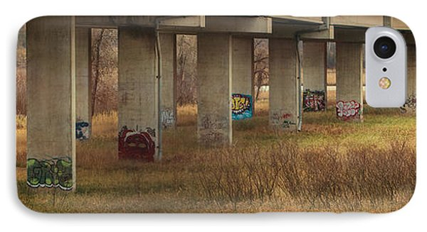 IPhone Case featuring the photograph Bridge Graffiti by Patti Deters