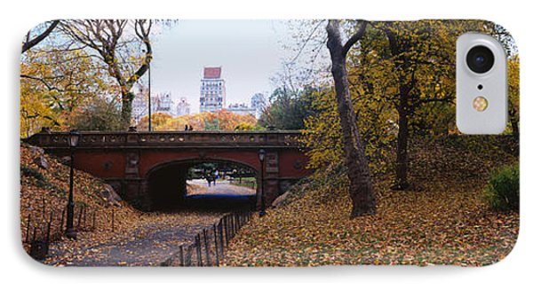 Bridge In A Park, Central Park IPhone Case by Panoramic Images