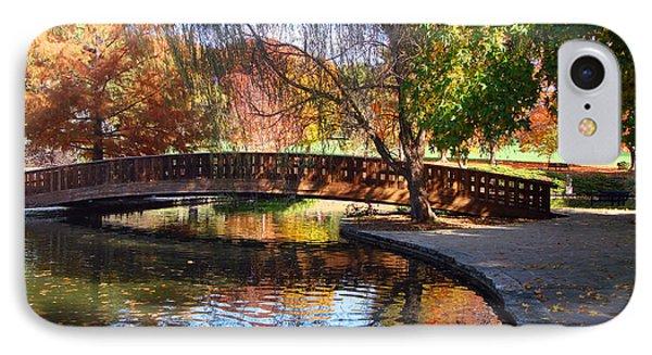 Bridge In Autumn Phone Case by Ellen Tully