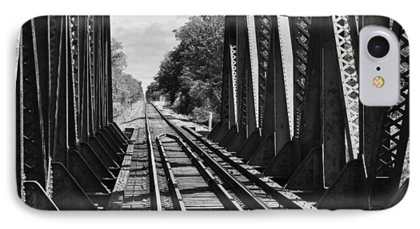 Bridge In Black And White IPhone Case