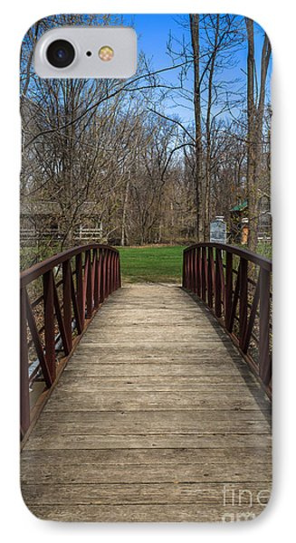 Bridge In Deep River County Park Northwest Indiana IPhone Case by Paul Velgos