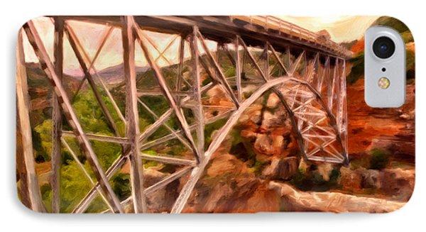 Bridge In Oak Creek Canyon Phone Case by Michael Pickett