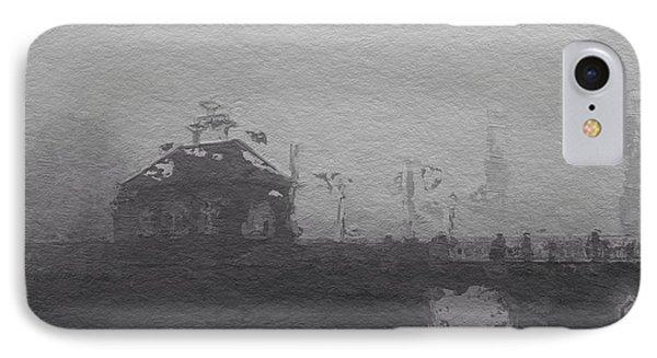 Bridge In The Fog IPhone Case by Steve K