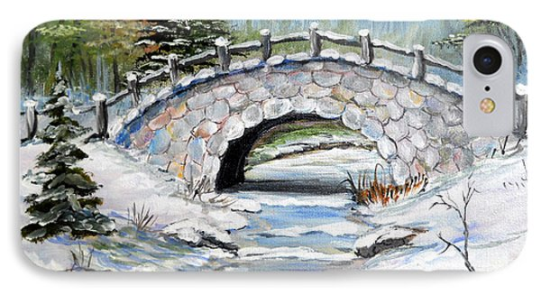 Bridge In Winter IPhone Case by Dorothy Maier