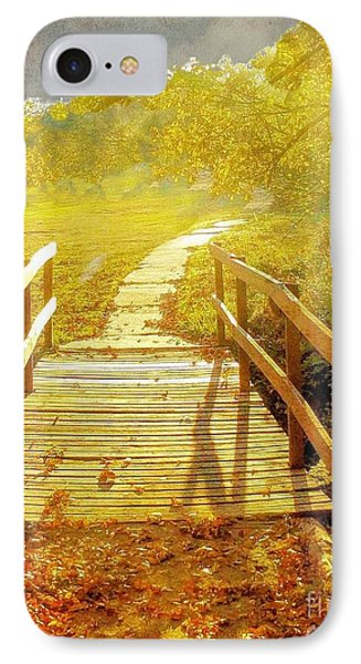 Bridge Into Autumn IPhone Case