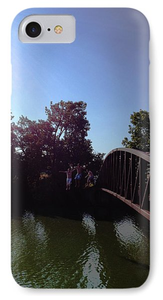 IPhone Case featuring the photograph Bridge Jumpers by Michael Rucker