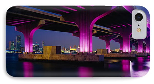 Bridge Lit Up Across A Bay, Macarthur IPhone Case by Panoramic Images