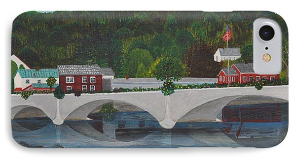 Bridge Of Flowers Phone Case by Sally Rice