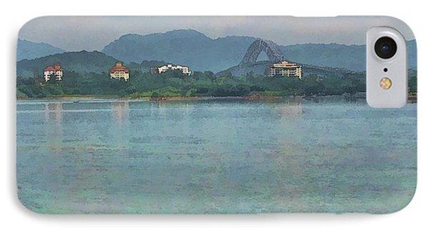 Bridge Of The Americas From Casco Viejo - Panama Phone Case by Julia Springer