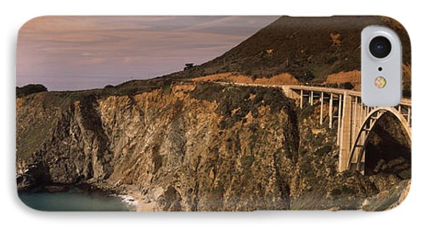 Bridge On A Hill, Bixby Bridge, Big IPhone Case by Panoramic Images