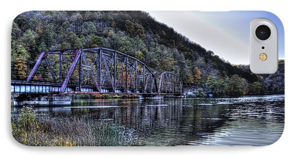 Bridge On A Lake IPhone Case by Jonny D