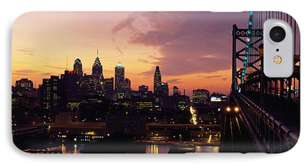 Bridge Over A River, Benjamin Franklin IPhone Case by Panoramic Images