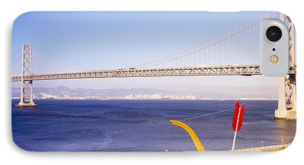 Bridge Over An Inlet, Bay Bridge, San IPhone Case by Panoramic Images