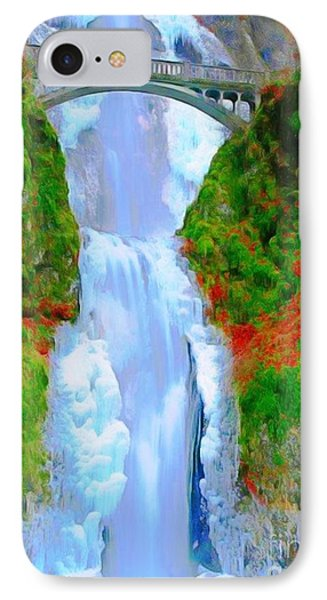 Bridge Over Beautiful Water IPhone Case by Catherine Lott