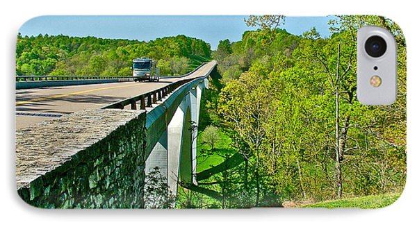Bridge Over Birdsong Hollow At Mile 438 Of Natchez Trace Parkway-tennessee Phone Case by Ruth Hager