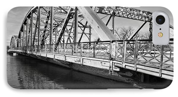 Bridge Over Flooding River IPhone Case