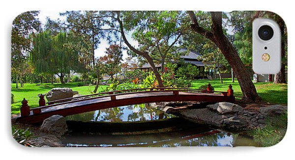 IPhone Case featuring the photograph Bridge Over Japanese Gardens Tea House by Jerry Cowart