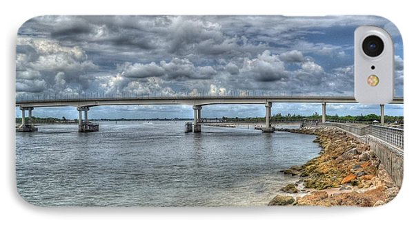 Bridge Over Sebastian Inlet IPhone Case by Timothy Lowry