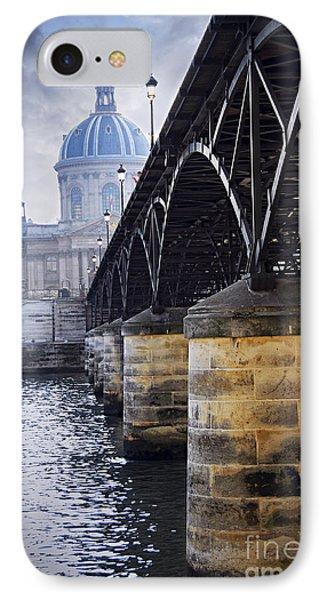 Bridge Over Seine In Paris IPhone Case by Elena Elisseeva