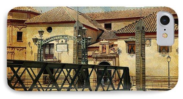 Bridge Over The River Guadalmedina In Malaga I. Spain Phone Case by Jenny Rainbow