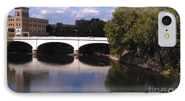 Bridge Over The St. Joseph River  --  South Bend Phone Case by Anna Lisa Yoder