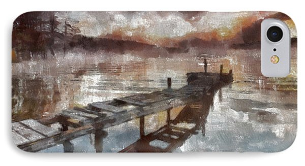 IPhone Case featuring the painting Bridge To Eternity by Georgi Dimitrov