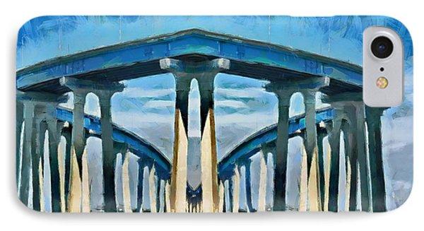 Bridge To Nowhere - Bay Bridge IPhone Case by Russ Harris