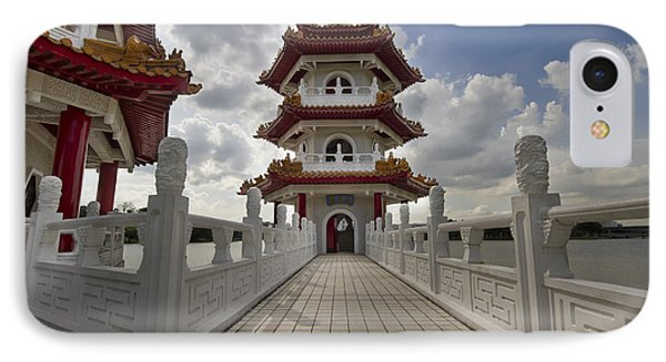 Bridge To Pagoda At Chinese Garden Phone Case by David Gn