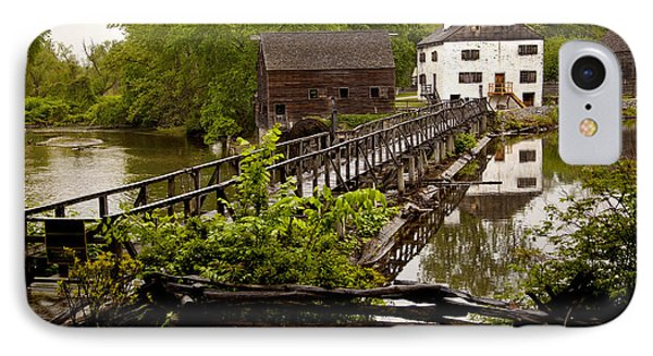 IPhone Case featuring the photograph Bridge To Philipsburg Manor Mill House by Jerry Cowart
