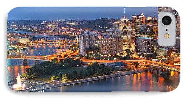 Bridge To The Pittsburgh Skyline IPhone Case
