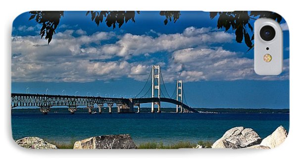 Bridge To The U.p. IPhone Case by Nick Zelinsky