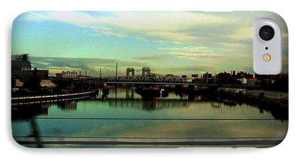Bridge With White Clouds IPhone Case by Miriam Danar