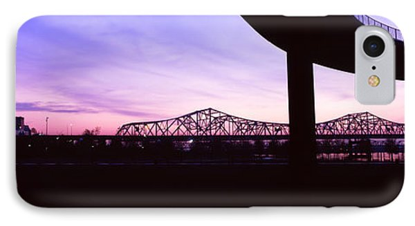 Bridges In A City At Dusk, Louisville IPhone Case by Panoramic Images