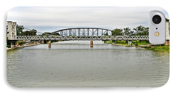 Bridges In Waco Tx IPhone Case by Christine Till