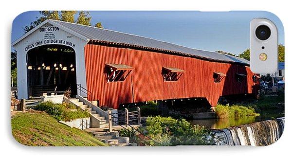 Bridgeton Covered Bridge 3 Phone Case by Marty Koch