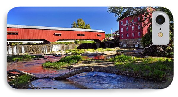 Bridgeton Covered Bridge 4 Phone Case by Marty Koch