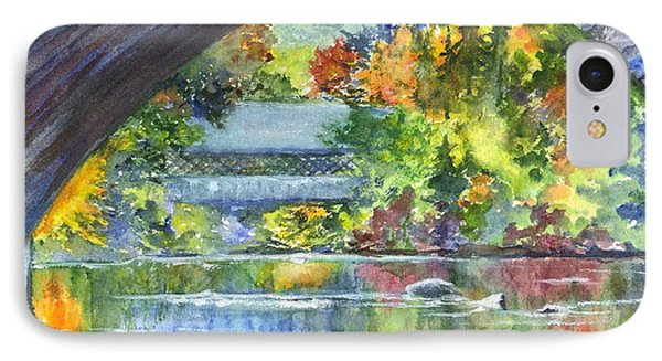 A Covered Bridge In Autumn's Splendor IPhone Case by Carol Wisniewski