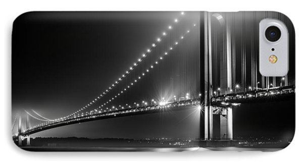 Bridging Verrazano Narrows IPhone Case by Mihai Andritoiu