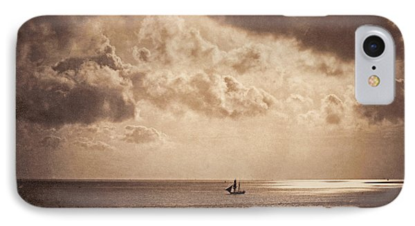 Brig Upon The Water IPhone Case by Gustave Le Gray