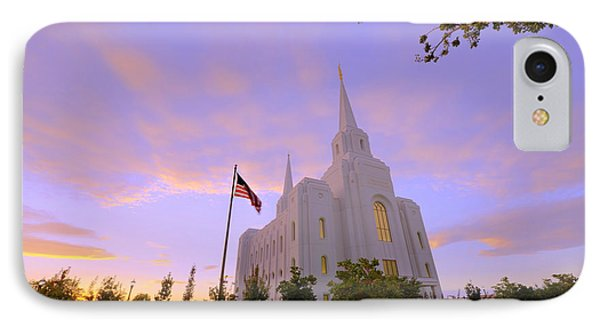 Brigham City Temple I IPhone Case by Chad Dutson