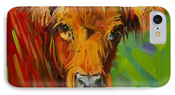 Bright And Beautiful Cow IPhone Case