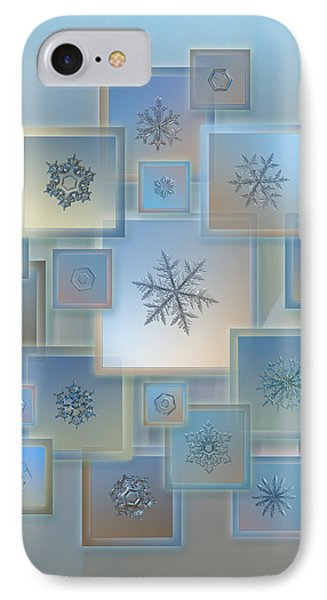 IPhone Case featuring the photograph Snowflake Collage - Bright Crystals 2012-2014 by Alexey Kljatov