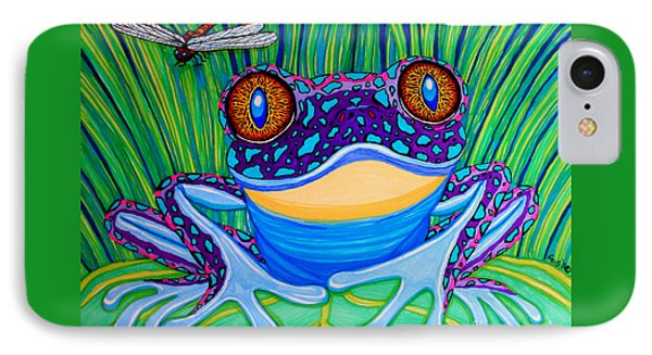 Bright Eyed Frog IPhone 7 Case by Nick Gustafson